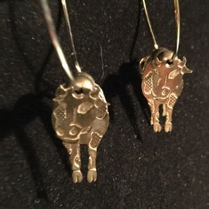 3D Cow Hoop Earrings. 🥇🥇🥇Choose 3 for $30